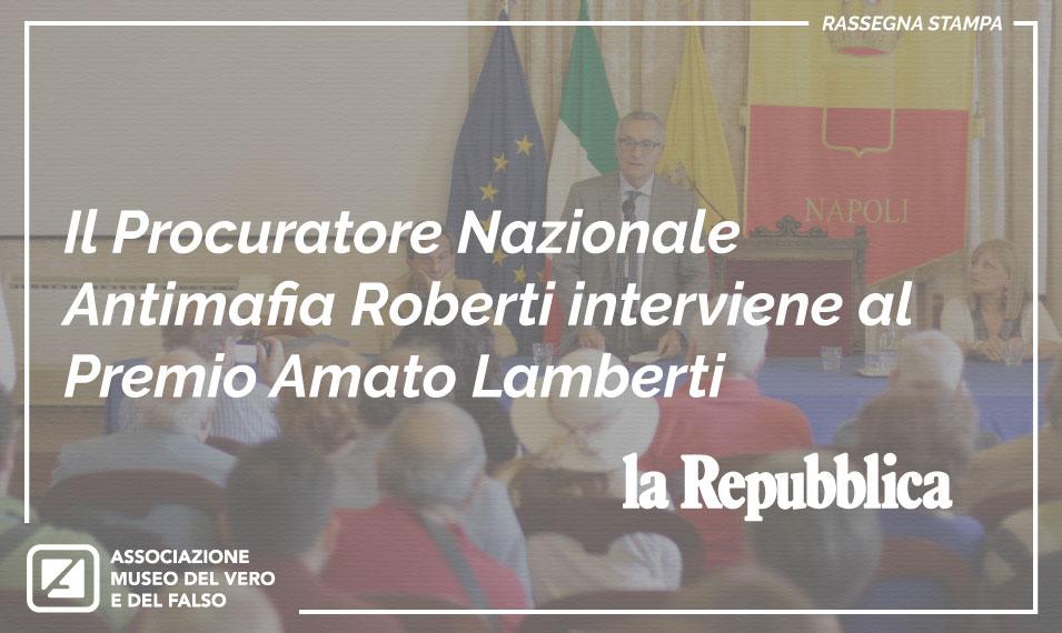 Il Procuratore Nazionale Antimafia Roberti interviene al Premio Amato Lamberti